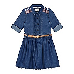 Mantaray - Girls' blue denim shirt dress