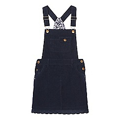 Mantaray - Girls' navy cord bib dress