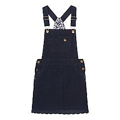 Mantaray - Girls' navy cord bib dress