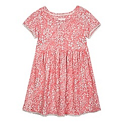 Mantaray - Girls' pink ditsy floral print dress