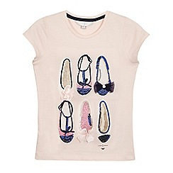 J by Jasper Conran - Girls' pink sequin shoes t-shirt