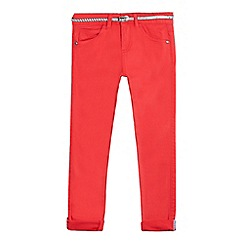 J by Jasper Conran - Girls' red skinny jeans and belt