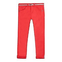 J by Jasper Conran - Girls' red skinny jeans and belt