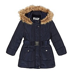 J by Jasper Conran - Girls' navy belted parka coat