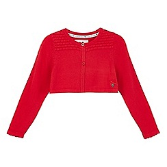 J by Jasper Conran - Girls' red textured cardigan