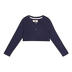 J by Jasper Conran - Girls' navy textured cardigan