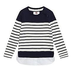 J by Jasper Conran - Girls' navy striped jumper