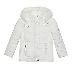 J by Jasper Conran - Girls' white hooded ski style coat