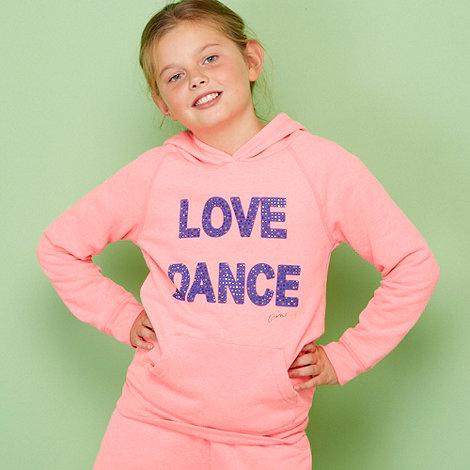 Pineapple - Girl+s pink rhinestone logo hoodie
