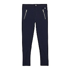 J by Jasper Conran - Girls' navy jodphur zip leggings