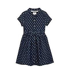 J by Jasper Conran - Girls' denim spotted print shirt dress