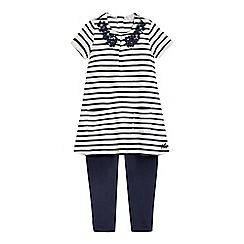 J by Jasper Conran - Girls' blue stripe sequin top and matching leggings
