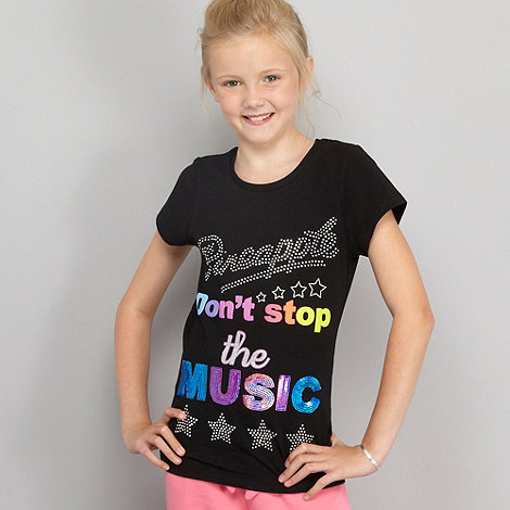 Pineapple - Girl's black 'music' t-shirt