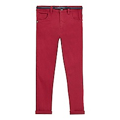 J by Jasper Conran - Girls' dark pink belted skinny jeans