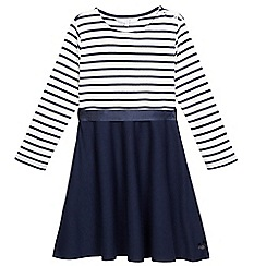 J by Jasper Conran - Girls' navy striped skater dress