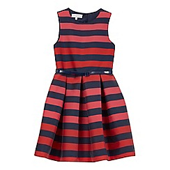 J by Jasper Conran - Girls' navy striped belted dress
