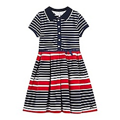 J by Jasper Conran - Girls' navy and red striped jersey polo dress