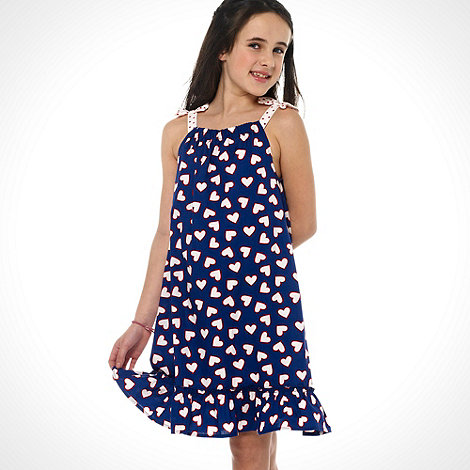 bluezoo - Girl+s blue heart printed dress