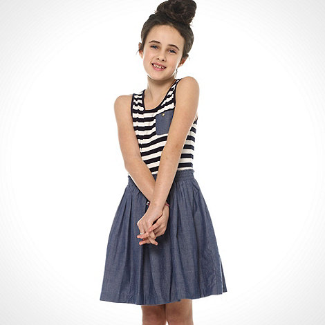 bluezoo - Girl+s navy jersey mock dress