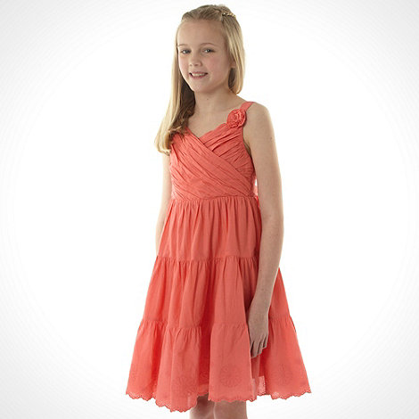 bluezoo - Girl+s coral corsage dress