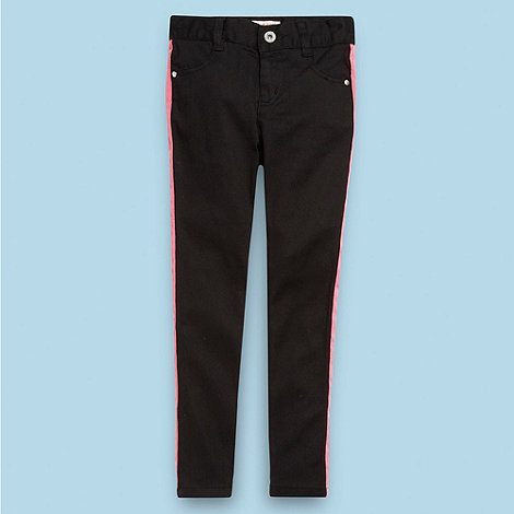 bluezoo - Girl+s black contrast panel jeans