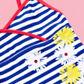bluezoo - Girl+s blue striped floral tankini set Alternative 2