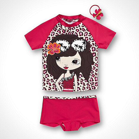 bluezoo - Girl+s pink animal swim set