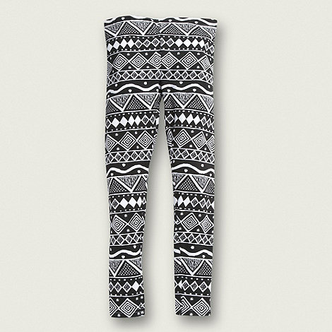 bluezoo - Girl+s black aztec leggings