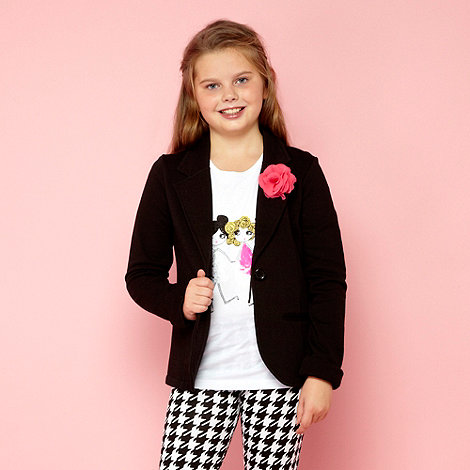 bluezoo - Girl+s black corsage blazer