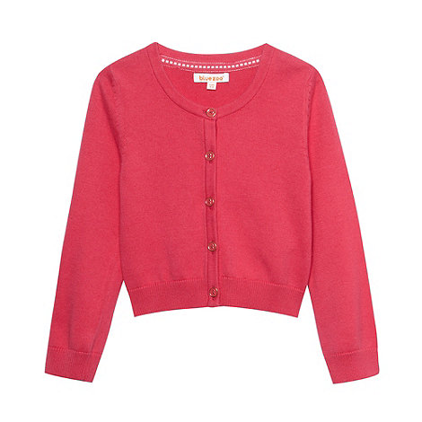 bluezoo - Girl+s pink button through cardigan