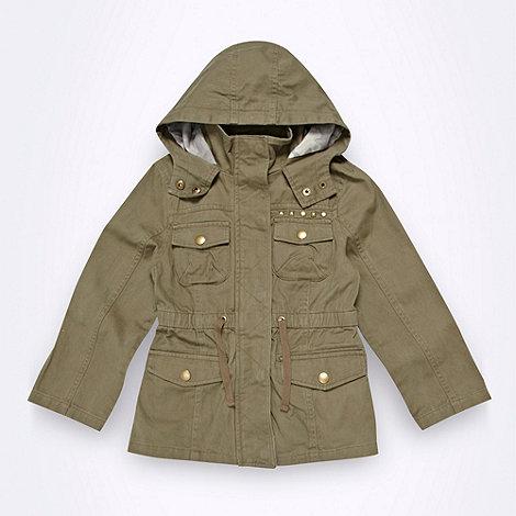 bluezoo - Girl+s khaki twill parka jacket