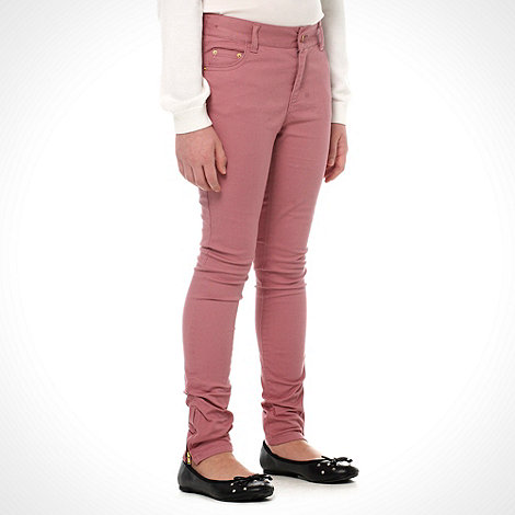 bluezoo - Girls+ pink ankle zipped skinny jeans