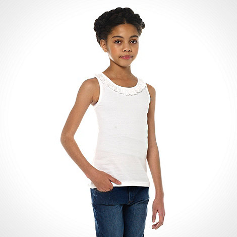 bluezoo - Girl+s multi pack of three plain vests
