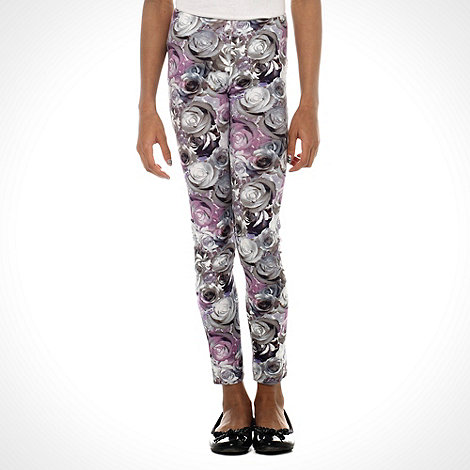 bluezoo - Girl's lilac rose print leggings