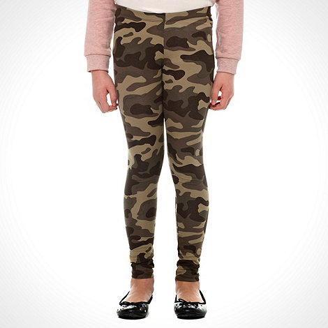 bluezoo - Girl+s khaki camo print leggings