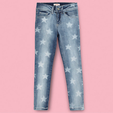 bluezoo - Girl's blue star print jeans