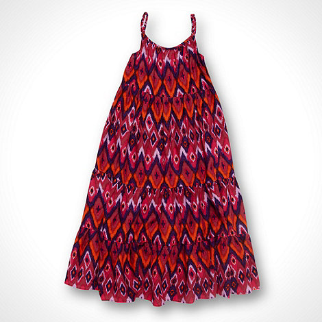 bluezoo - Girl+s pink aztec print maxi dress