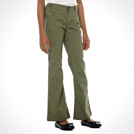 bluezoo - Girl+s khaki kick flare jeans