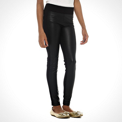 bluezoo - Girl+s black PU panel leggings