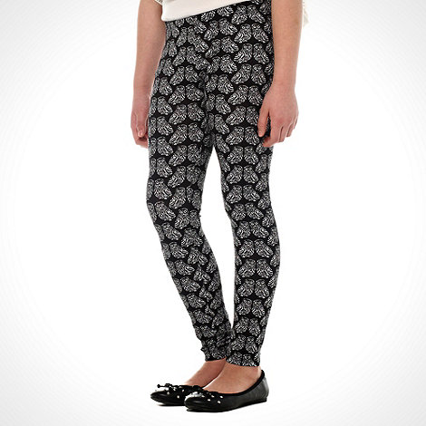 bluezoo - Girls+ black owl printed leggings
