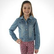 Girl's blue denim jacket