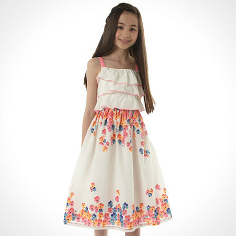 bluezoo - Girl+s multi neon floral printed dress