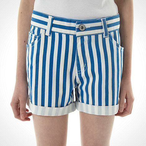 bluezoo - Girl+s blue candy striped shorts