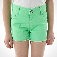bluezoo - Girl's green coloured shorts
