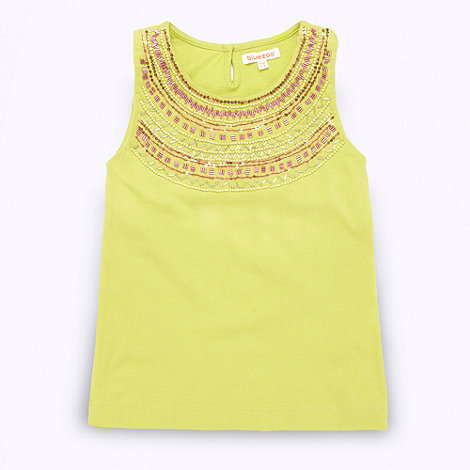 bluezoo - Girl+s lime green beaded neck vest top