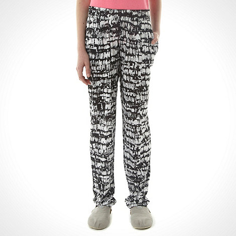 bluezoo - Girl+s black sketched jersey leggings
