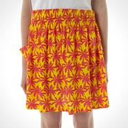 Girl's orange palm tree printed skirt