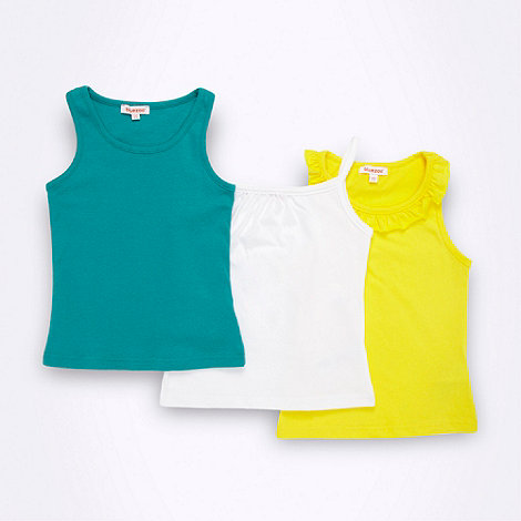 bluezoo - Girl+s pack of three vest tops