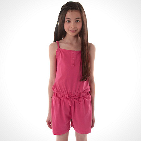 bluezoo - Girl+s pink playsuit and dress set