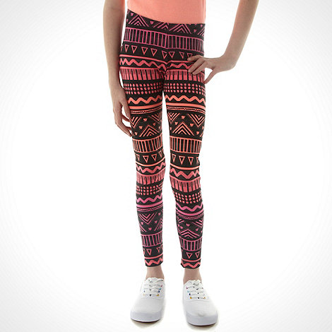 bluezoo - Girl+s ombre aztec printed leggings